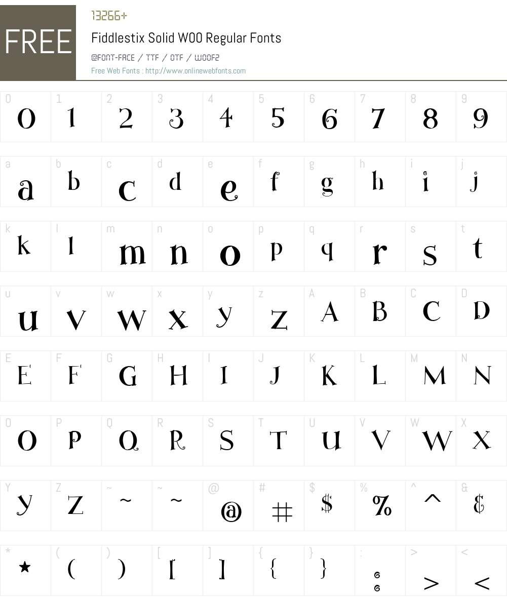 FiddlestixSolidW00-Regular Font Screenshots