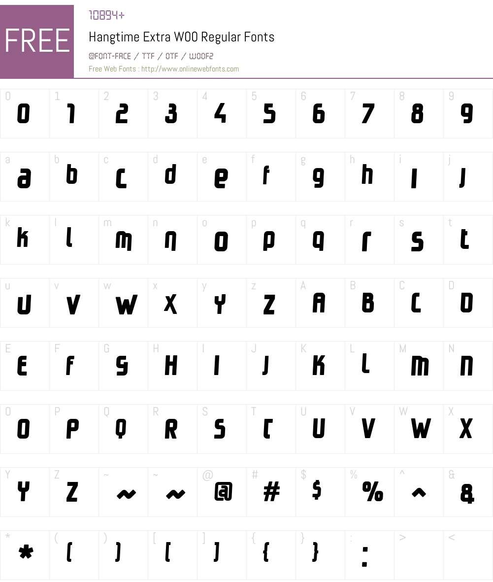 HangtimeExtraW00-Regular Font Screenshots