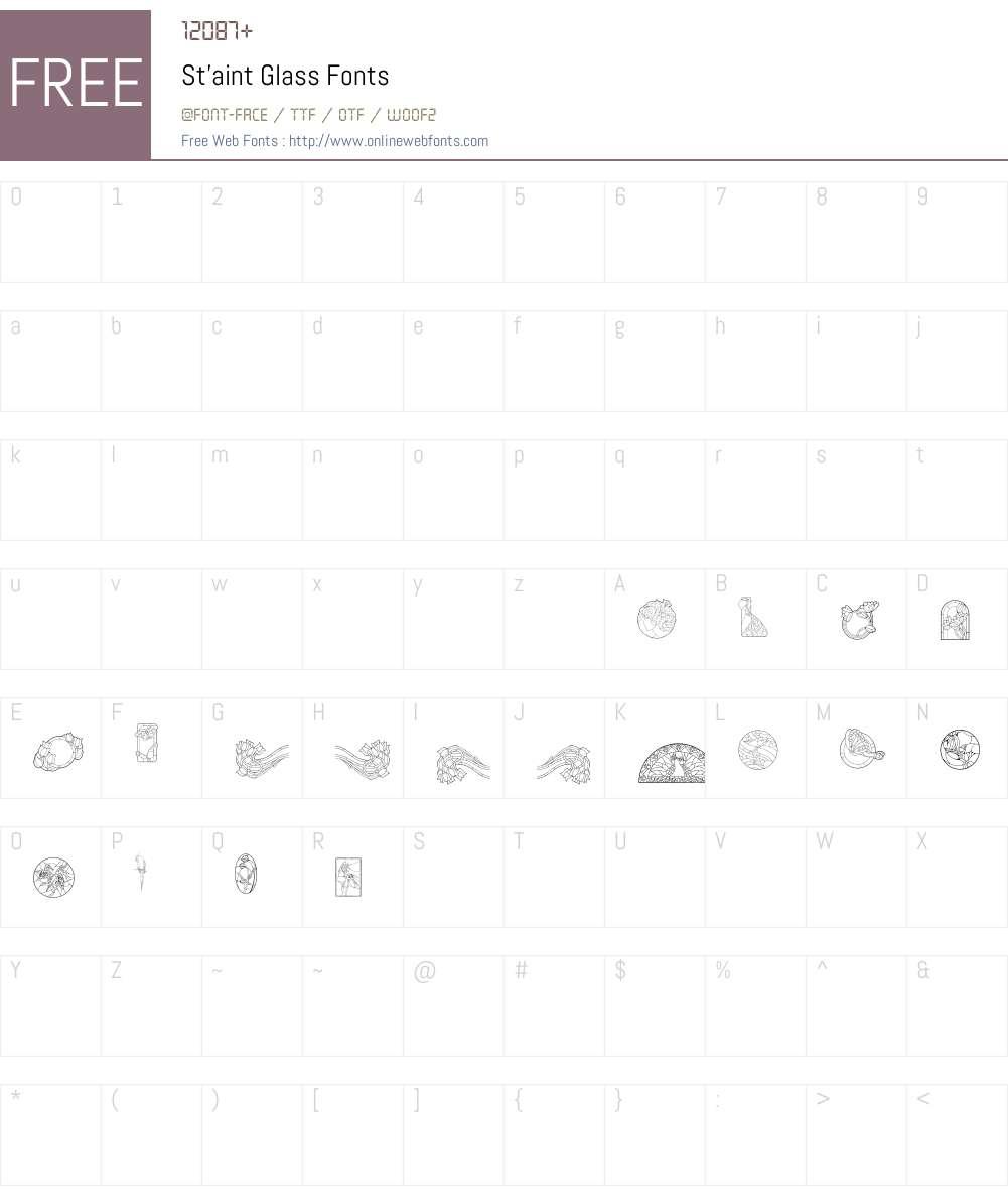 St'aint Glass Font Screenshots