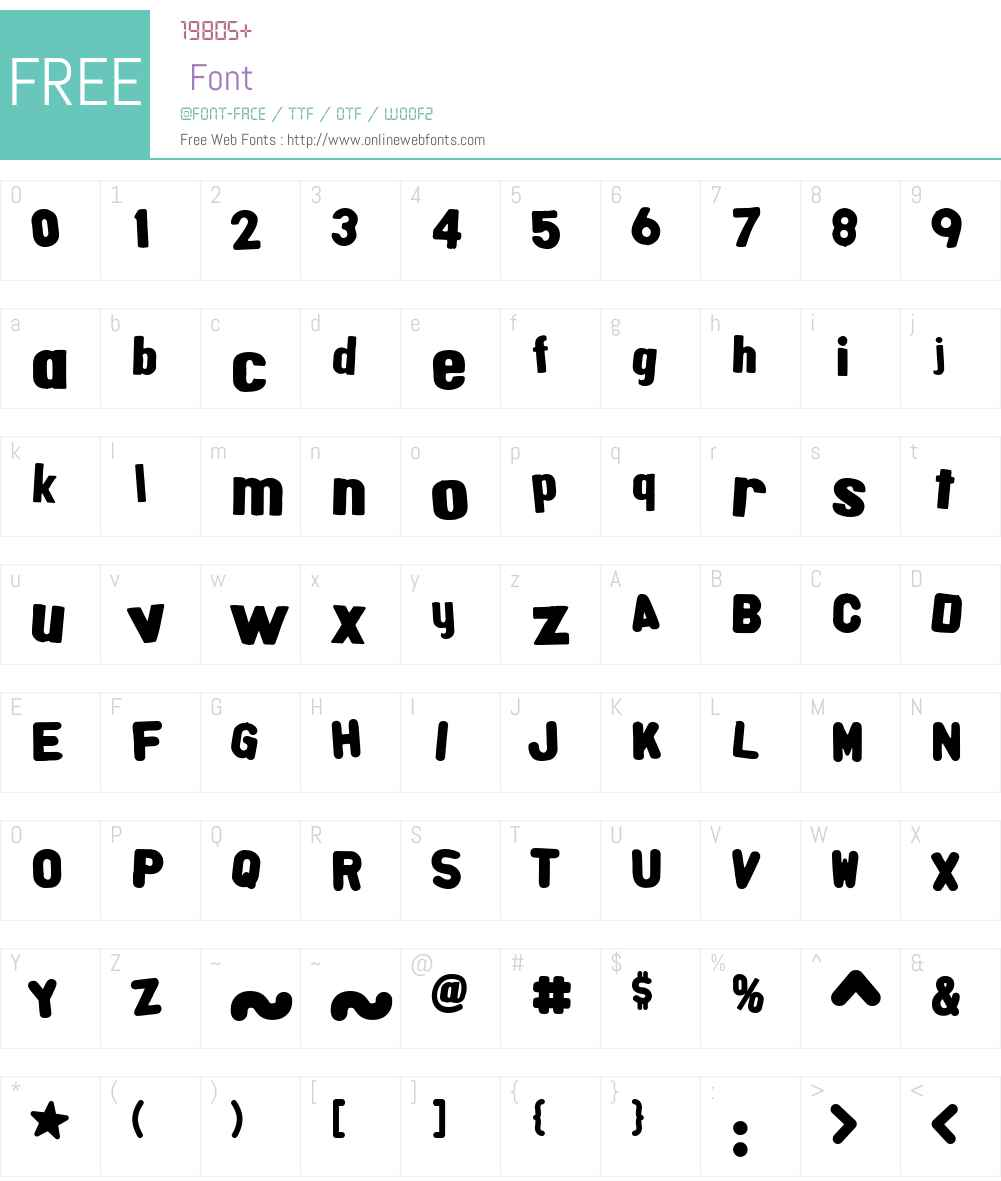 AlphaFridgeMagnets Font Screenshots
