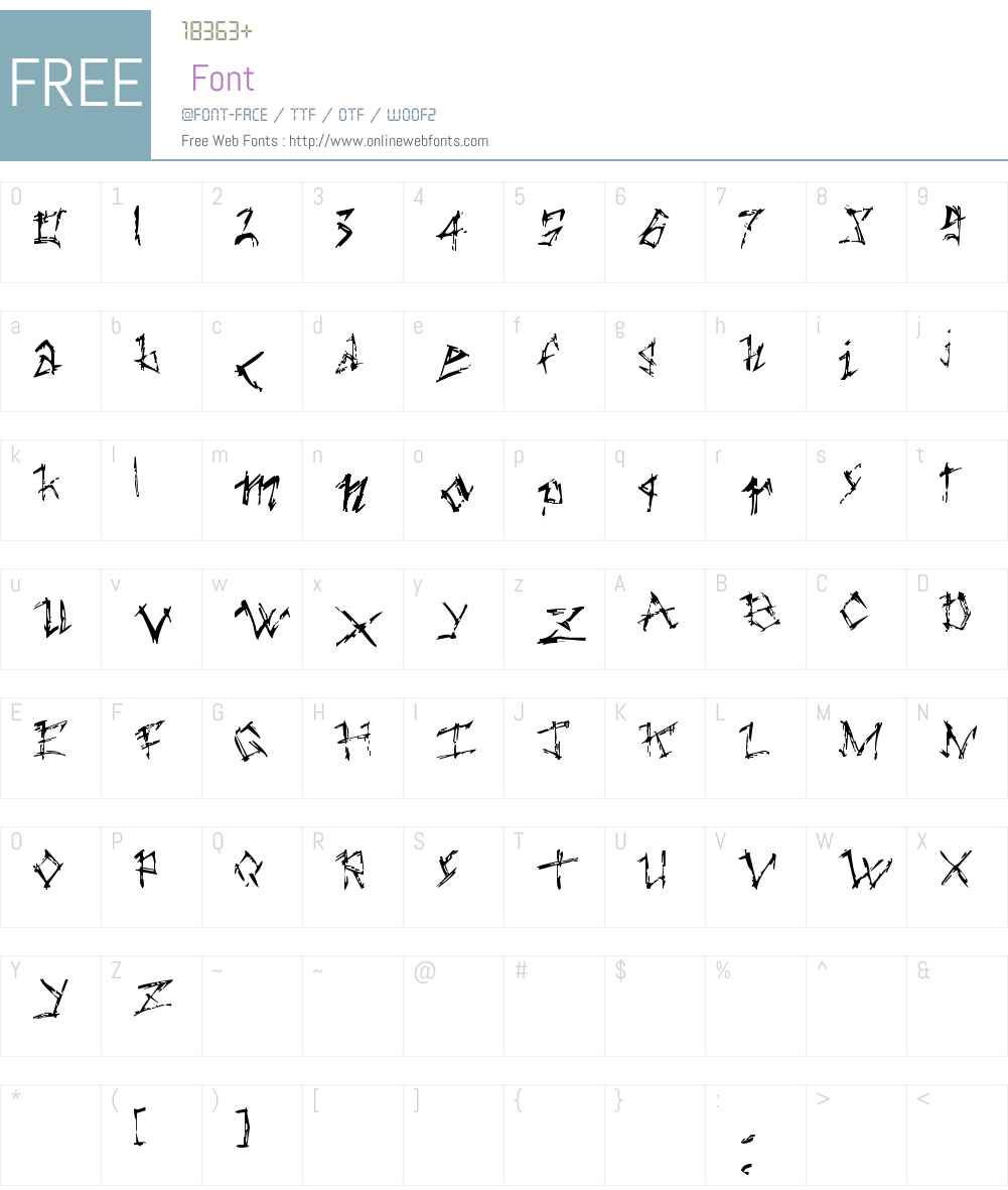 the dark ages Font Screenshots