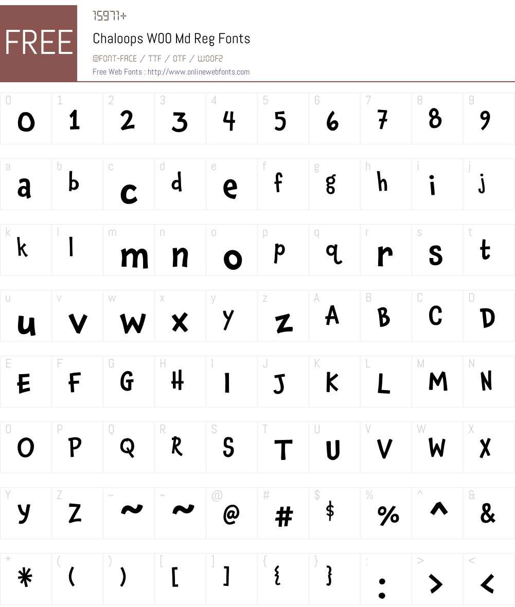 ChaloopsW00-MdReg Font Screenshots