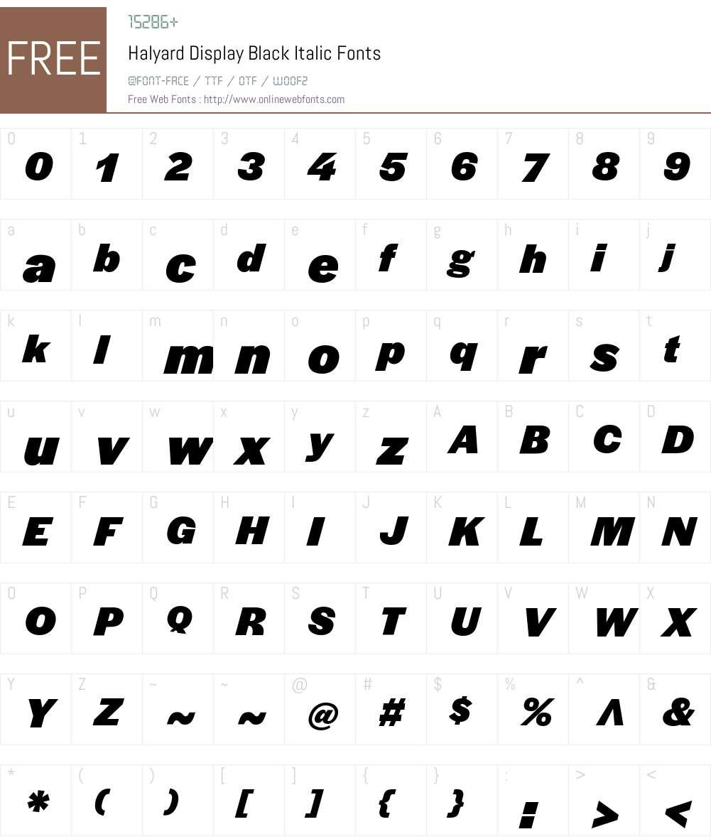 Halyard Display Black Font Screenshots