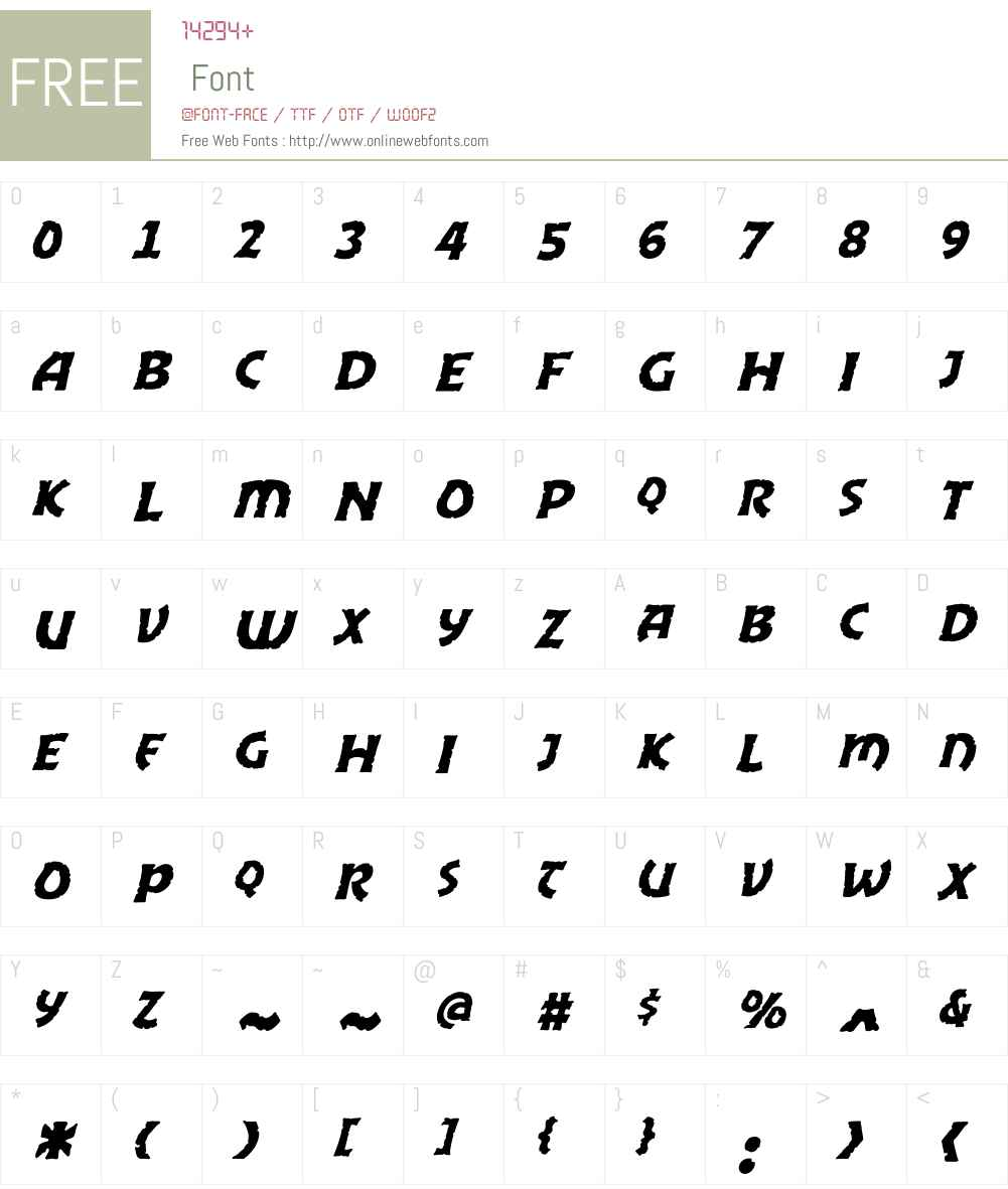 CCExcaliburStoneColdW00-It Font Screenshots