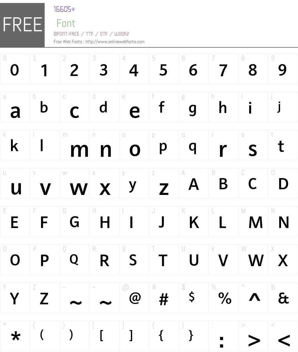 Raldo RE Font Screenshots