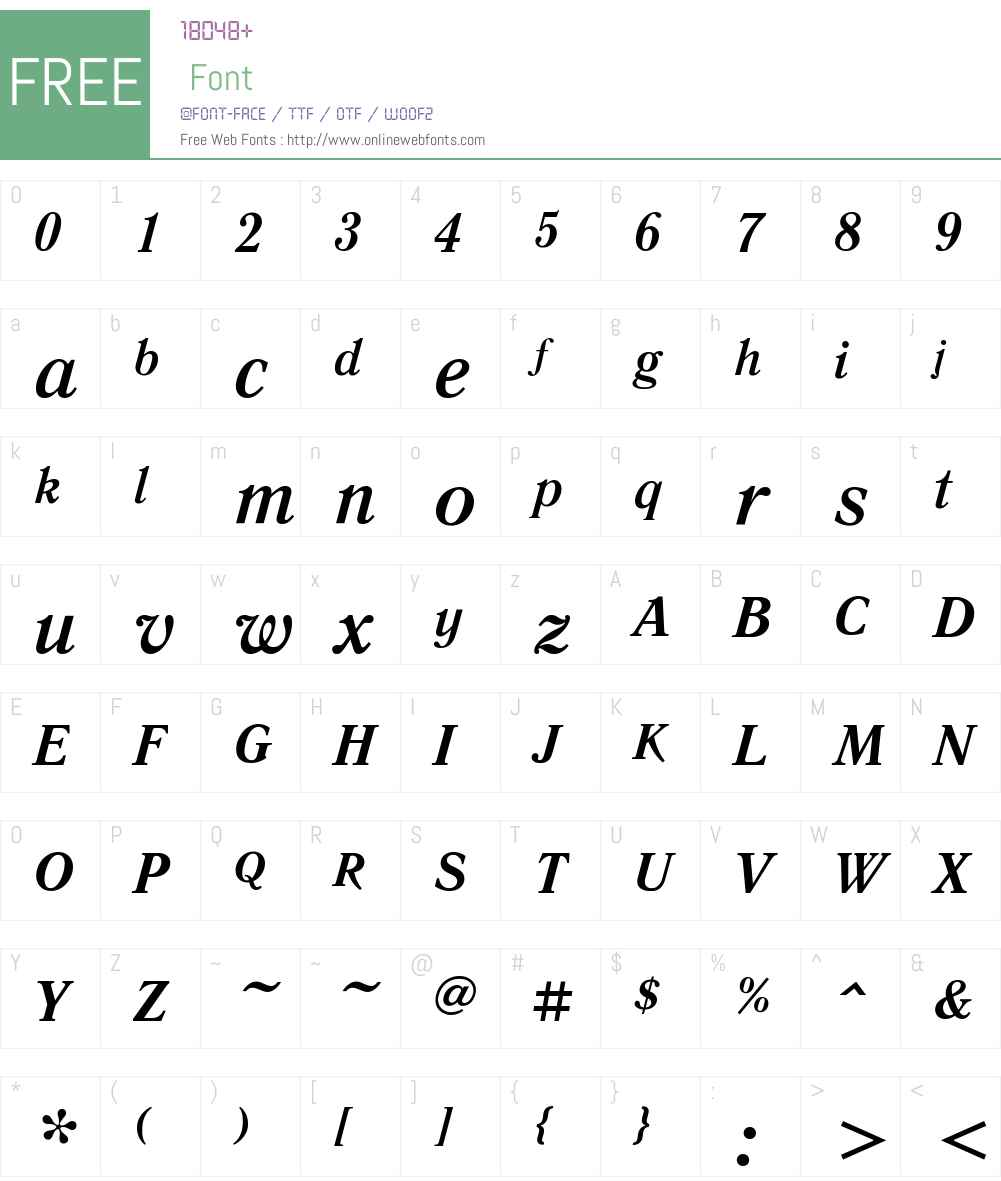 Literaturnaya Font Screenshots