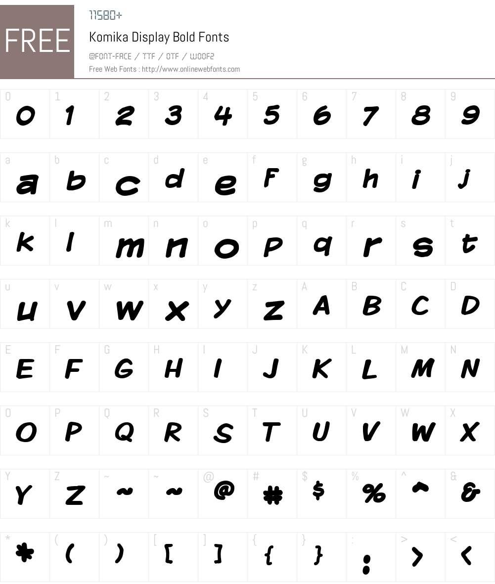 Komika Display Font Screenshots