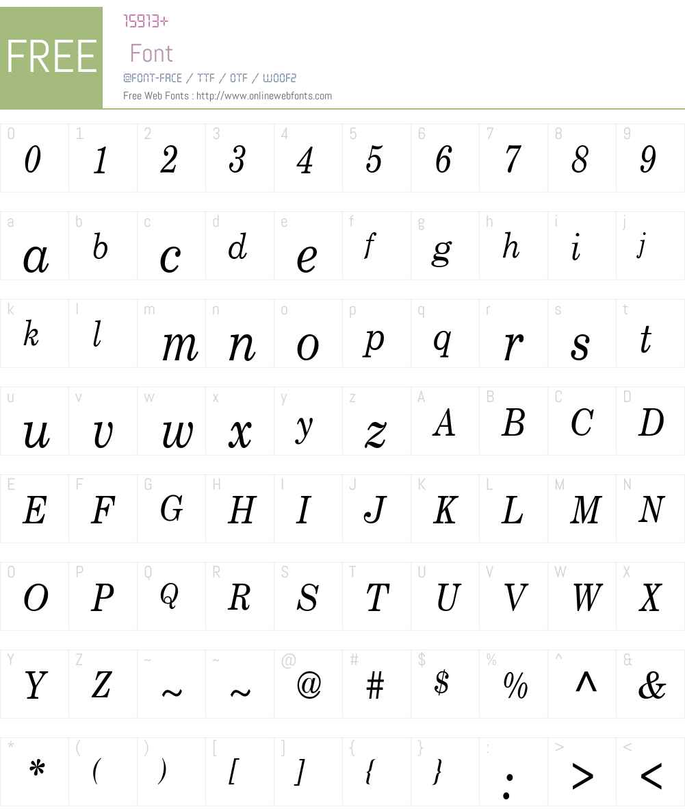 NewCenturySch 8 Font Screenshots