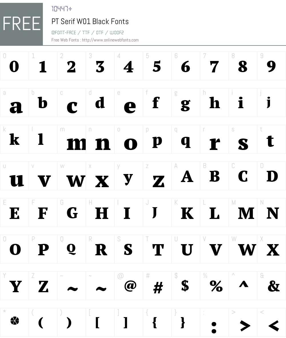PTSerifW01-Black Font Screenshots
