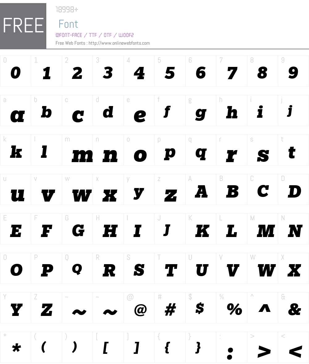 Egyptian Slate Font Screenshots