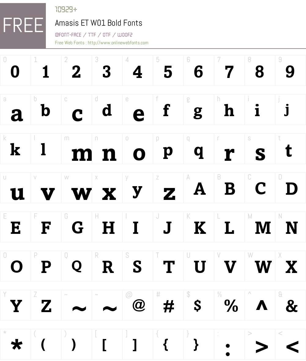 AmasisETW01-Bold Font Screenshots