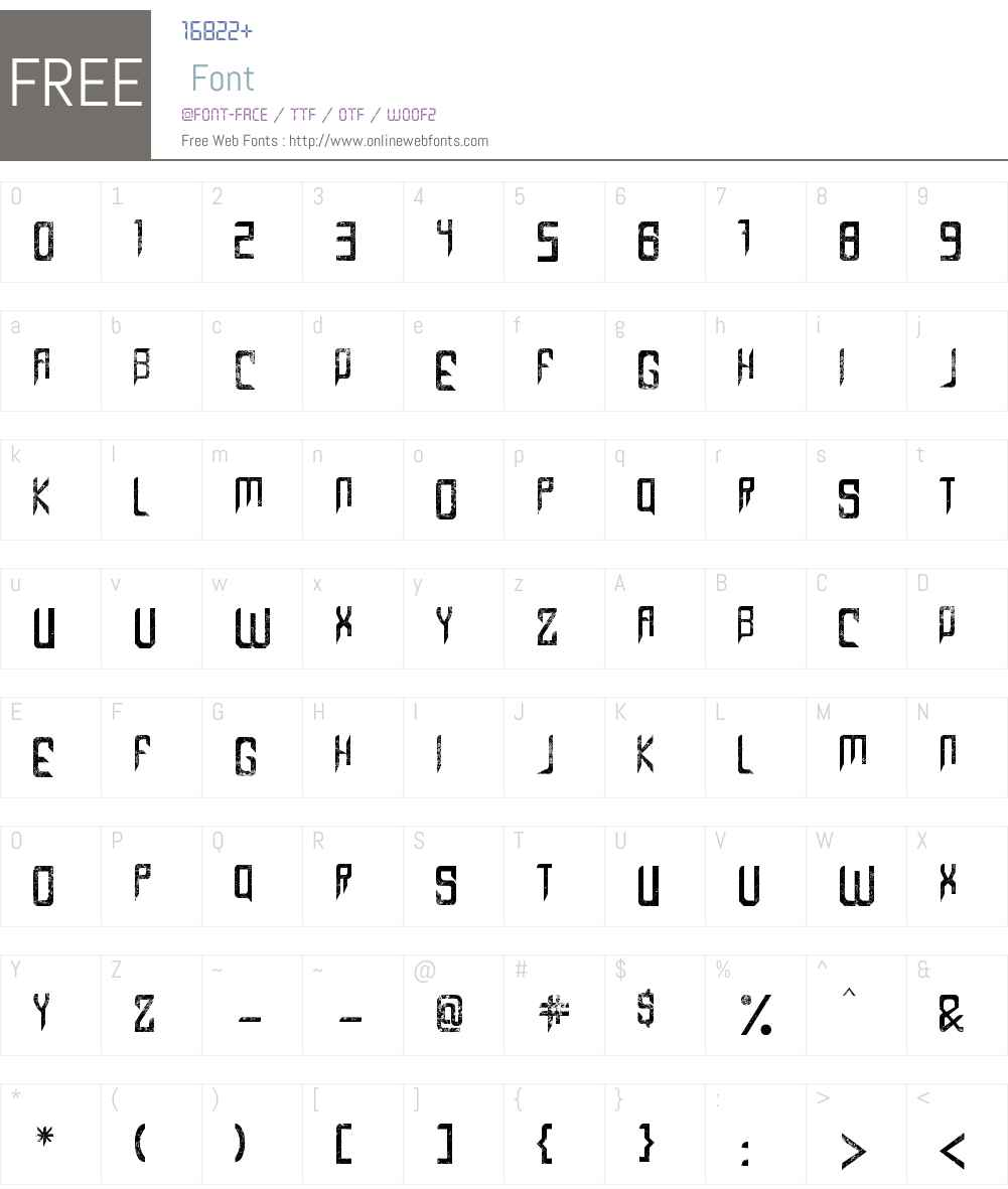 Capella (Rock) III Font Screenshots