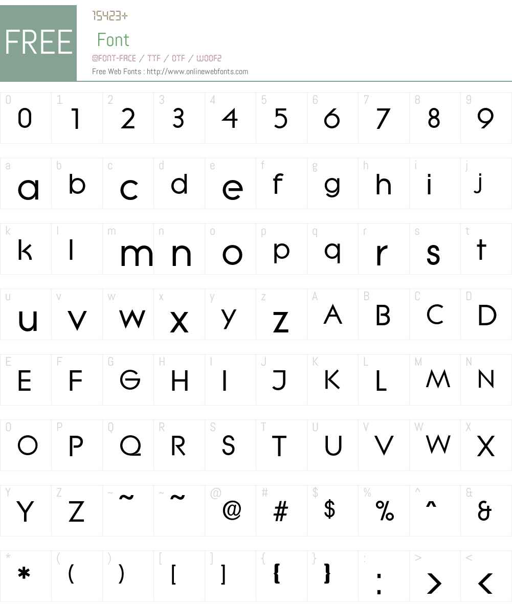 Litera-Bold Font Screenshots