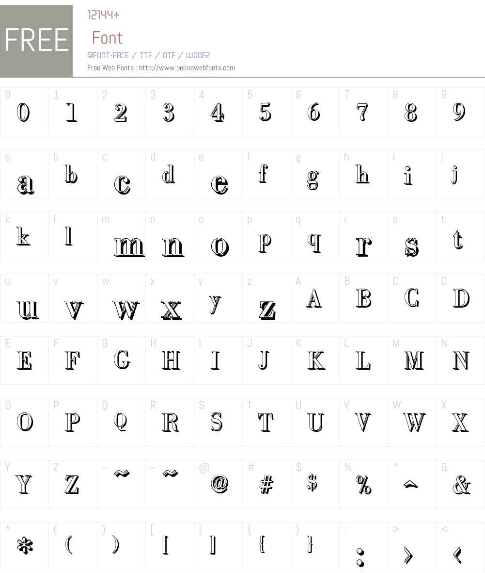 BodoniShadow Font Screenshots