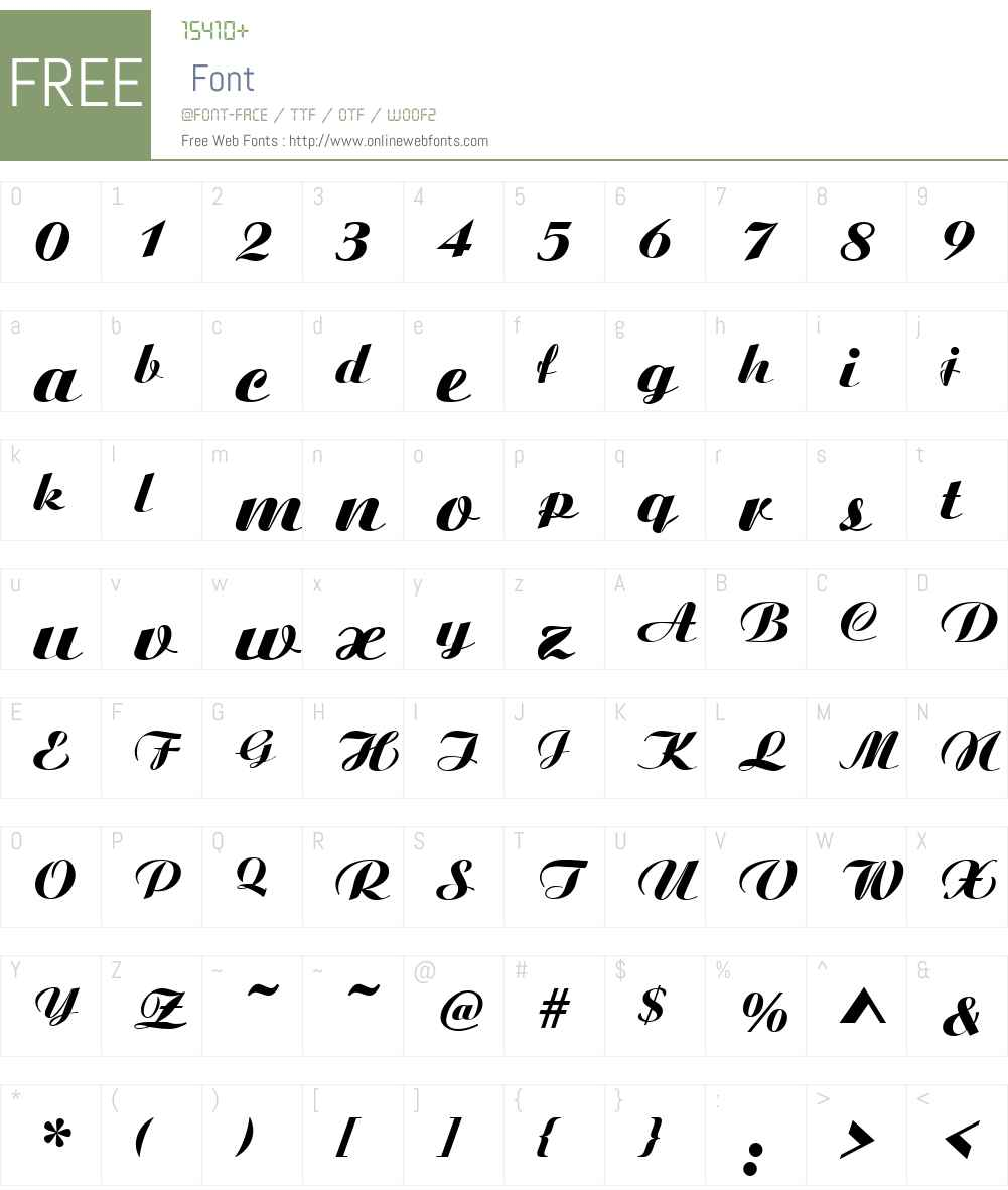 Boyarsky Font Screenshots