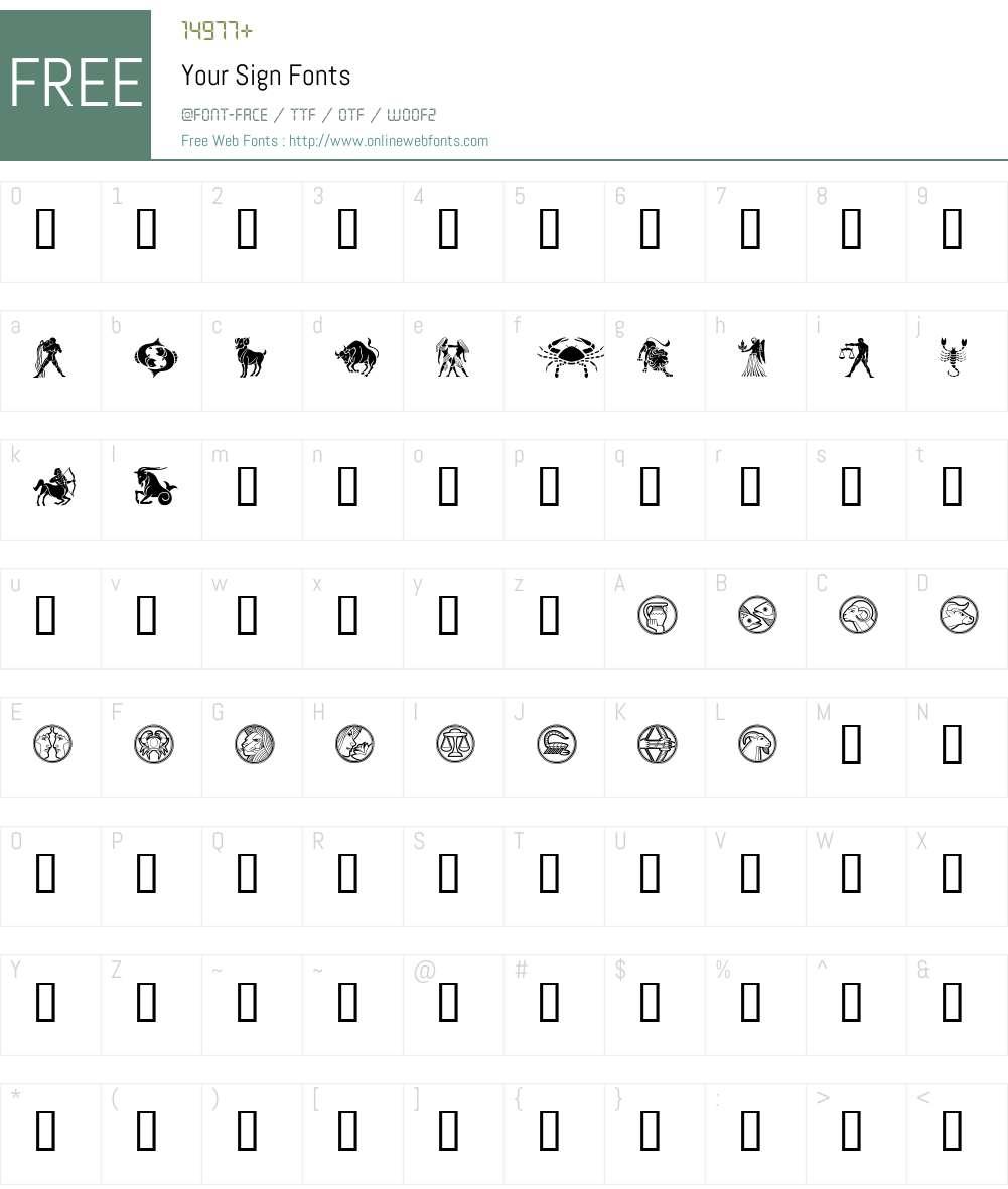 Your Sign Font Screenshots