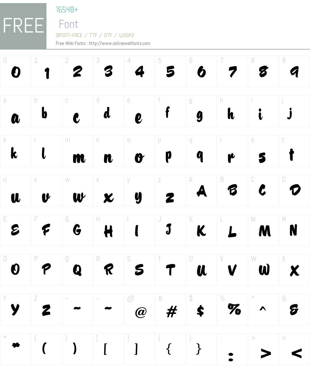 Barsoi Font Screenshots