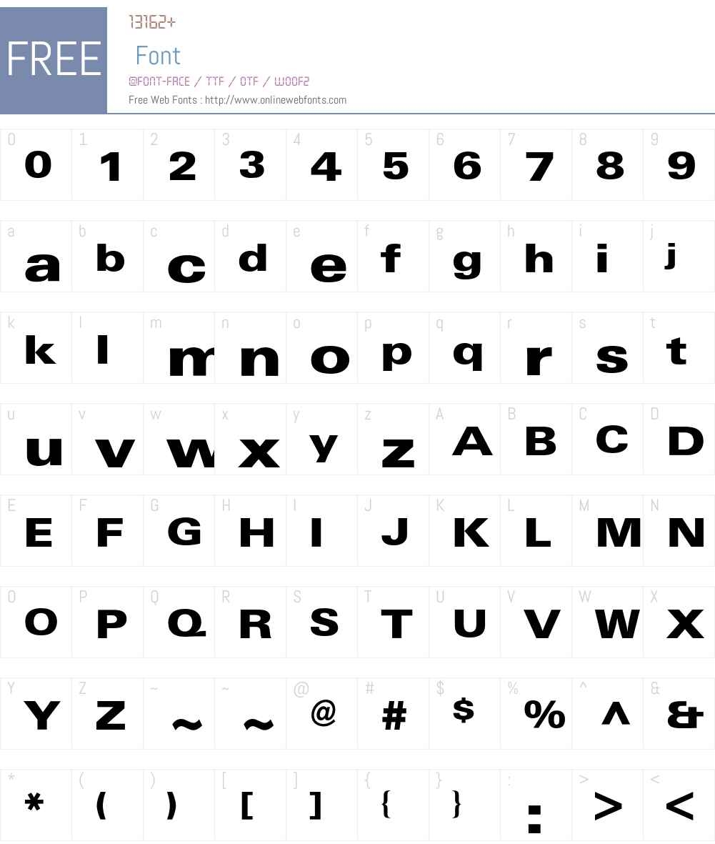 Univers Extended BQ Font Screenshots