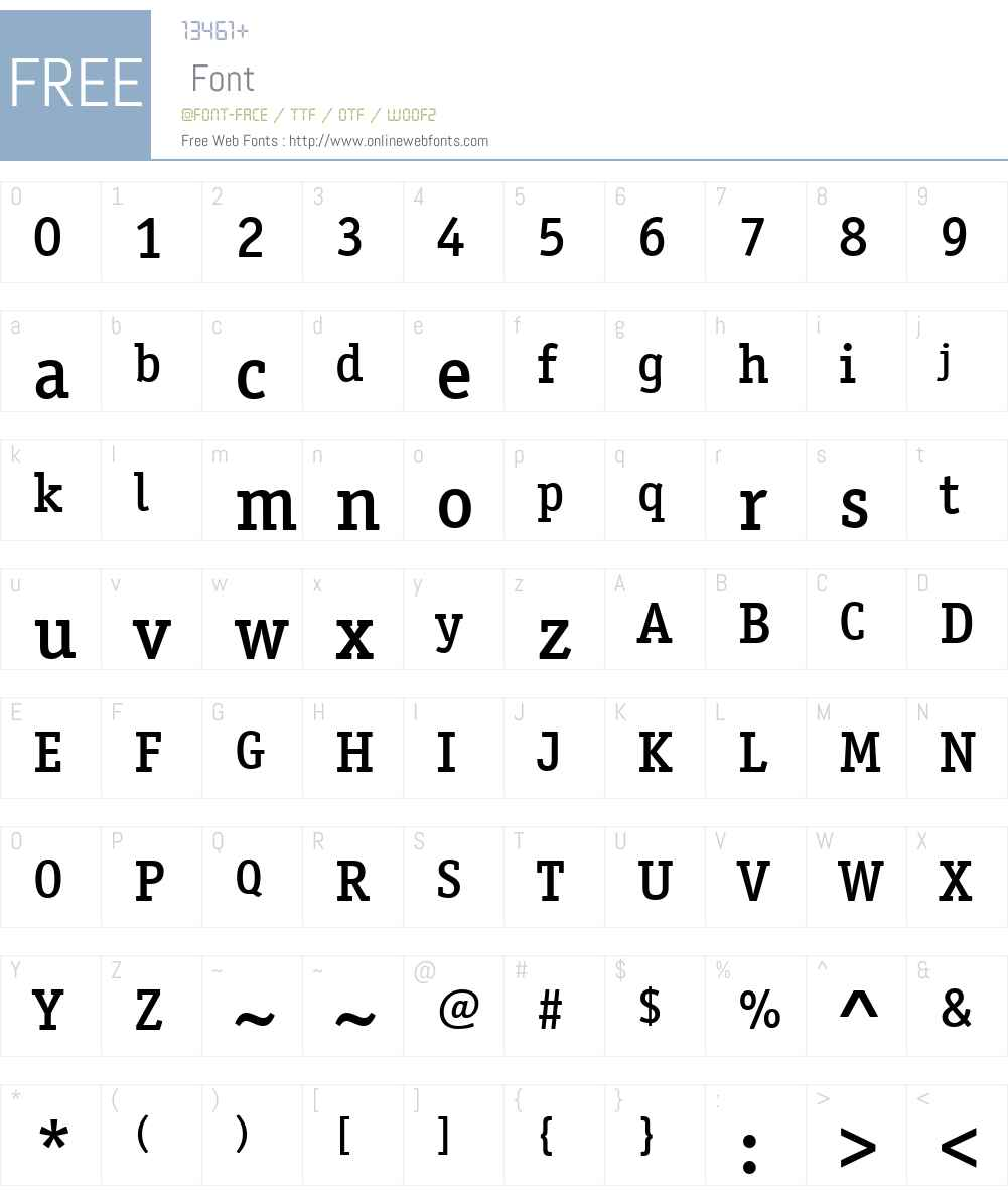 OfficinaSerifITCW01-Medium Font Screenshots