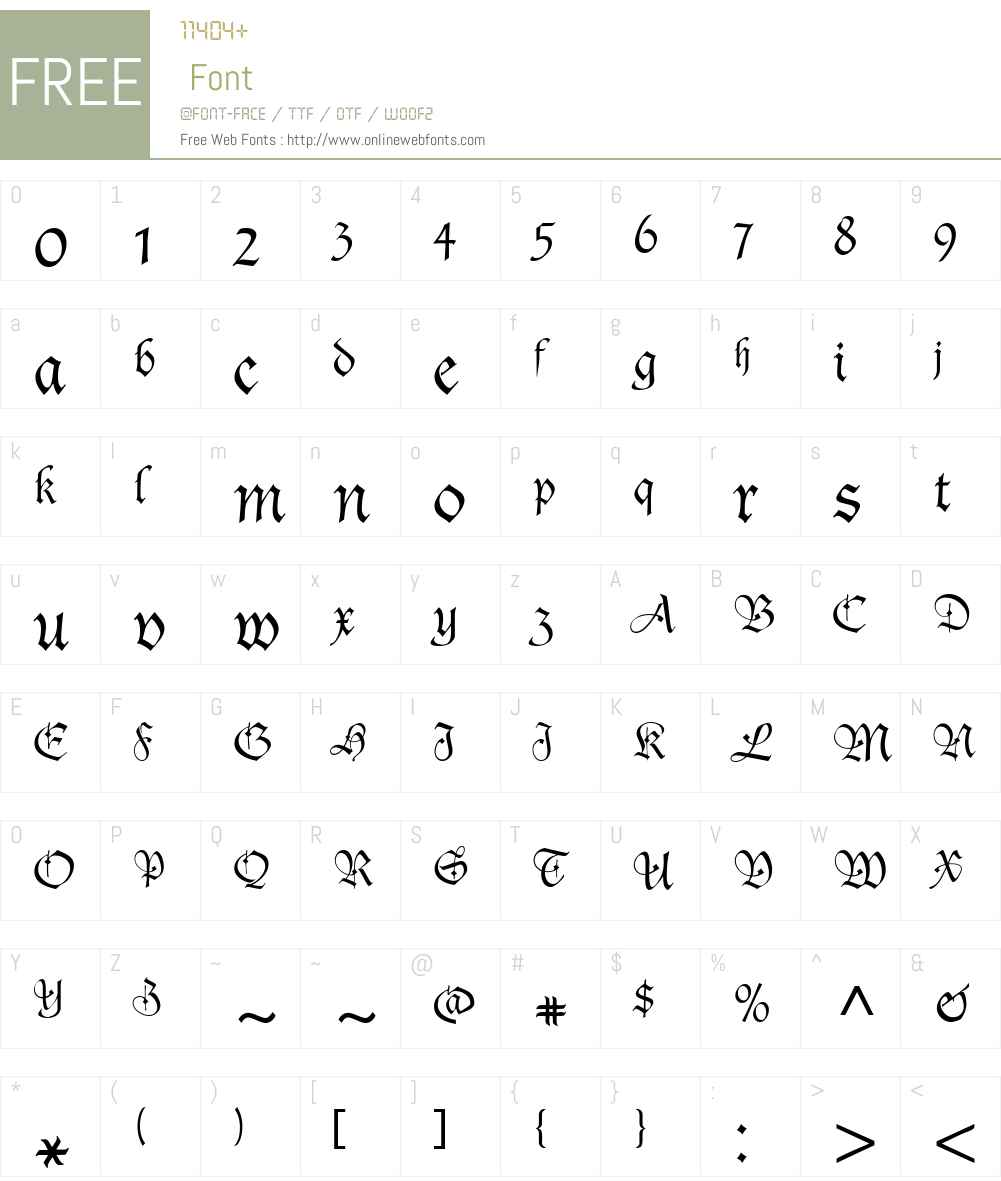 Agincort Font Screenshots