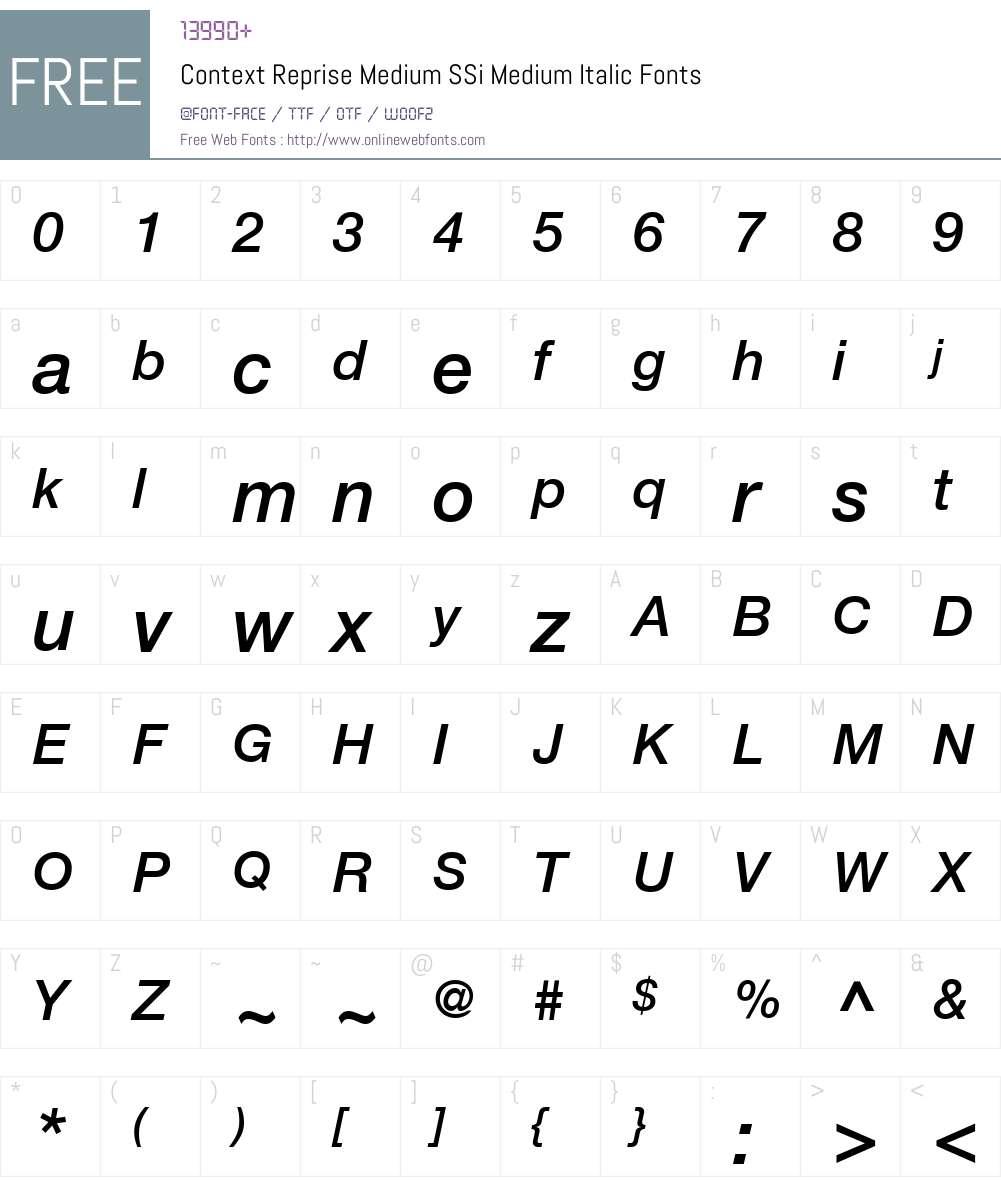 Context Reprise Medium SSi Font Screenshots