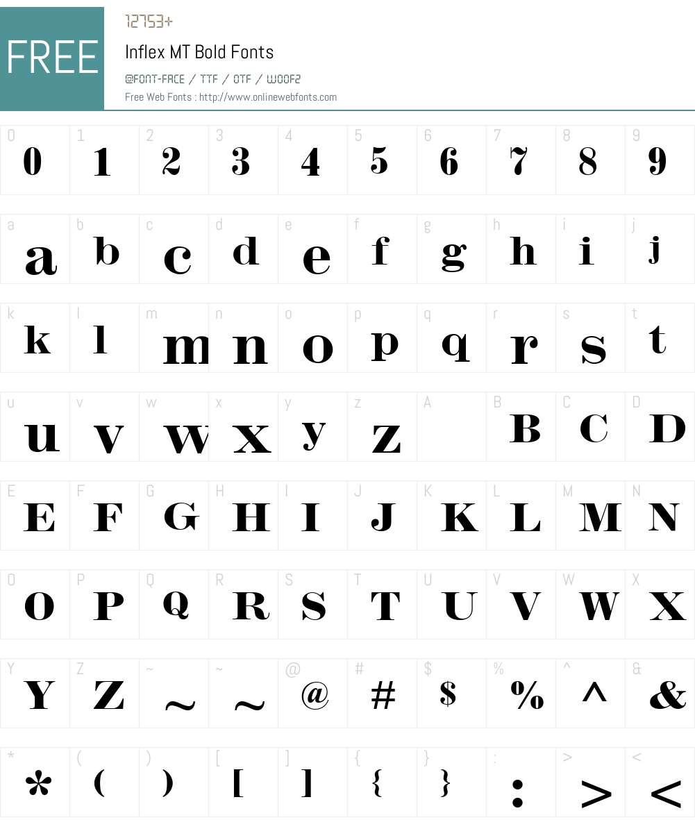 Inflex MT Bold Font Screenshots