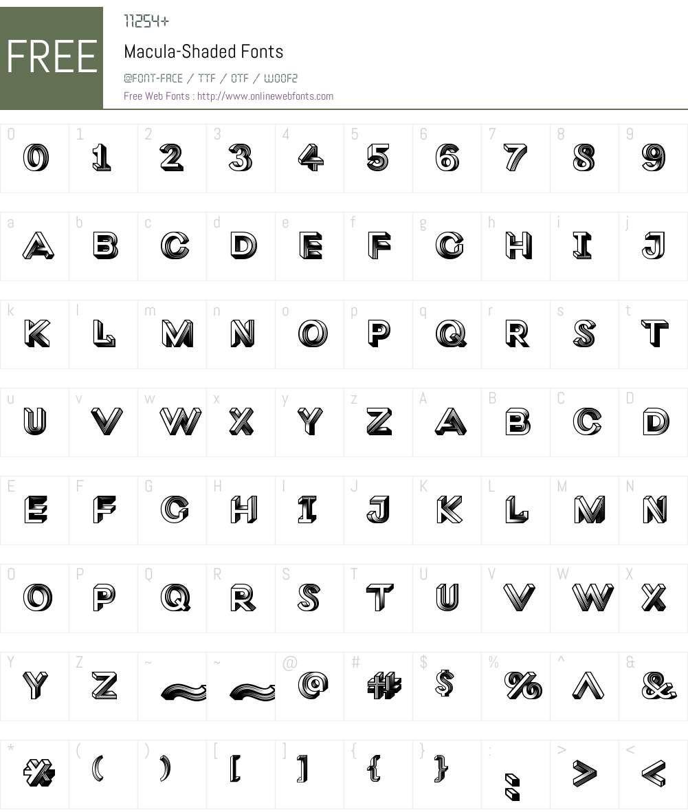 Macula Shaded Font Screenshots