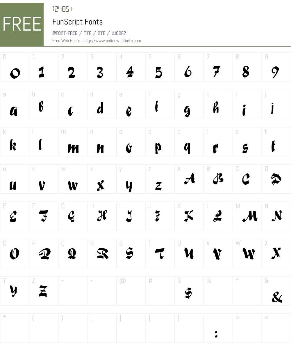 FunScript Font Screenshots