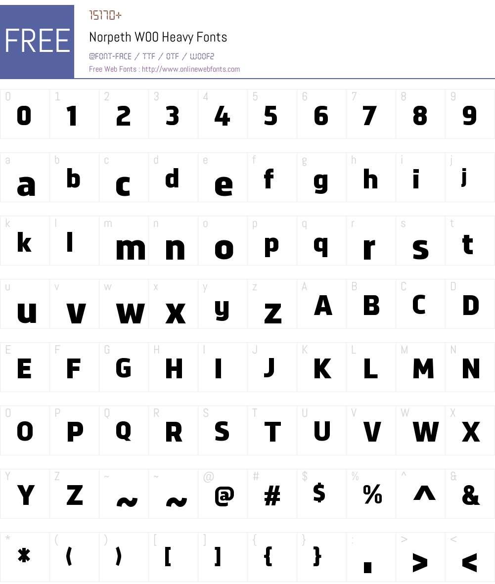 NorpethW00-Heavy Font Screenshots