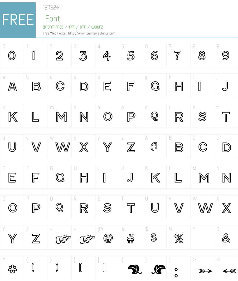 Fenwick Outline Font Screenshots