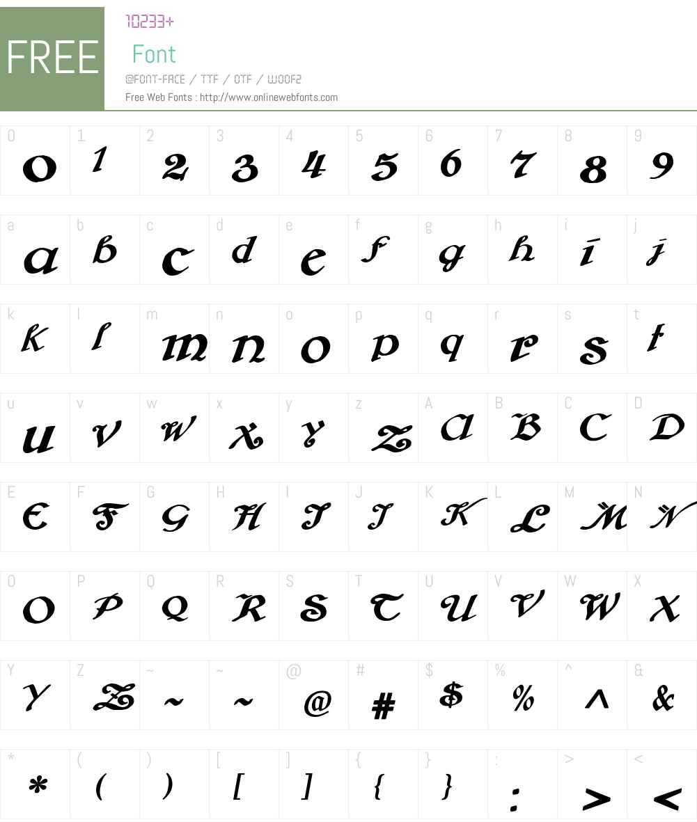 Brausepulver Font Screenshots