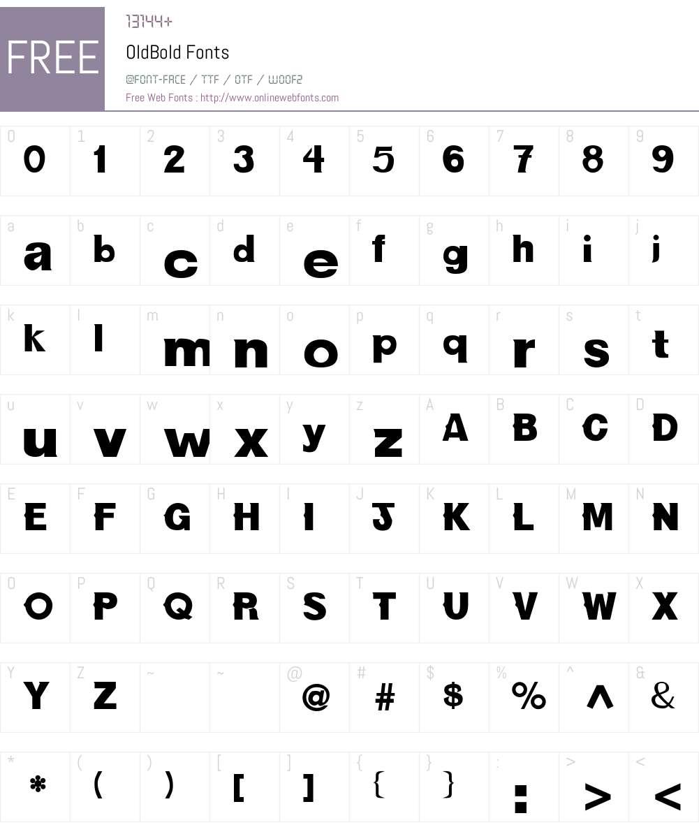 OldBold Font Screenshots