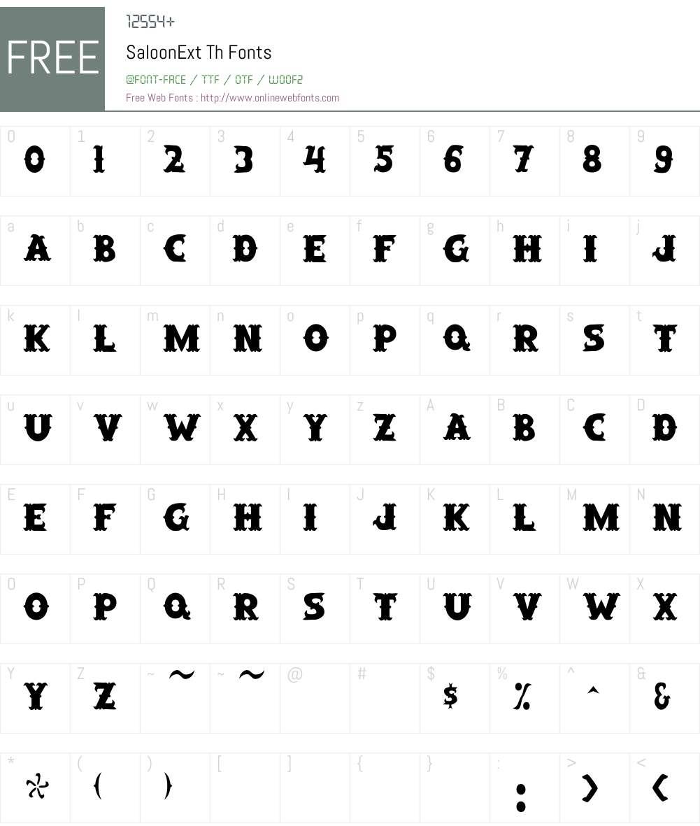 SaloonExt Th Font Screenshots