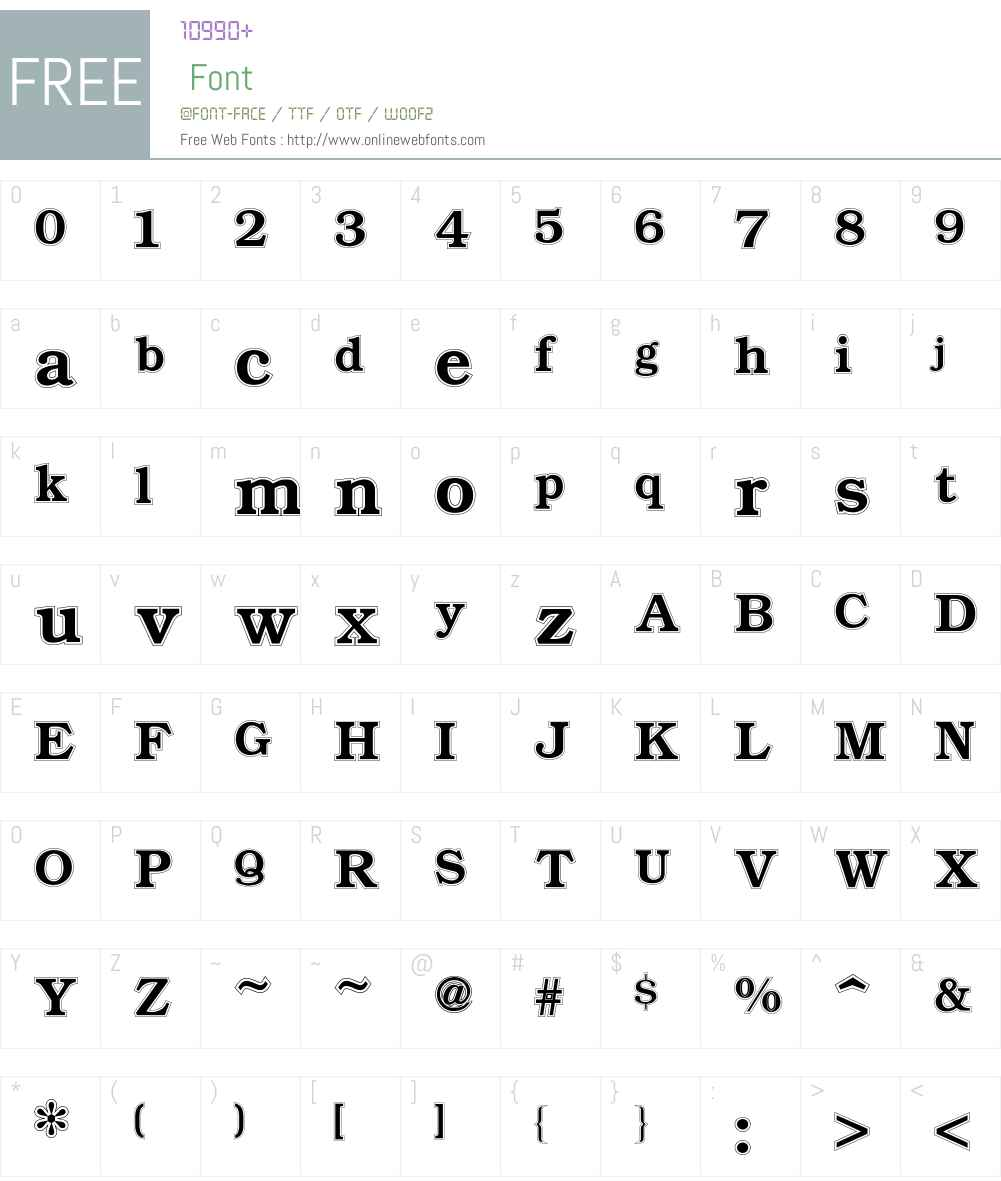 Bookman Font Screenshots