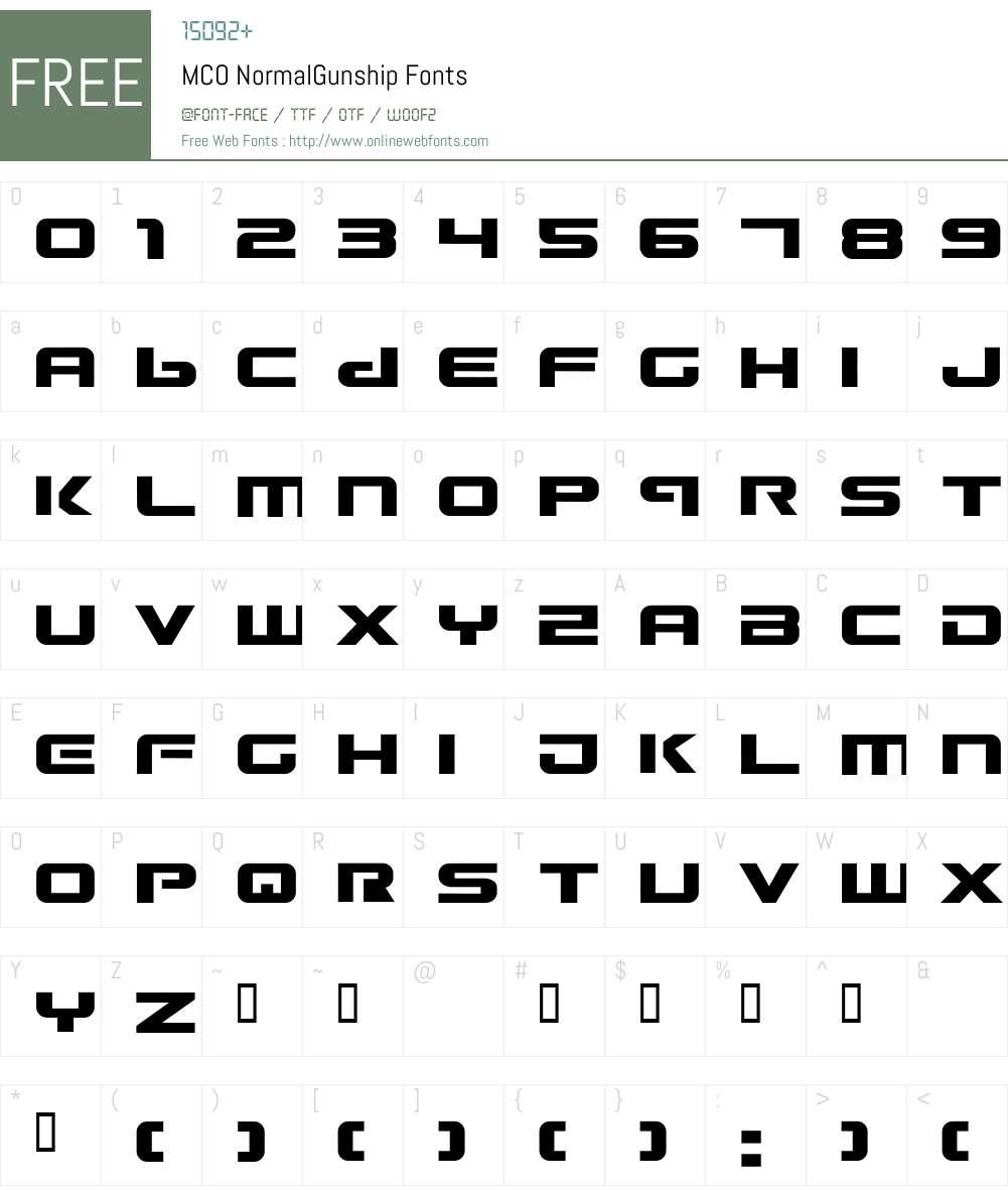 nship Font Screenshots