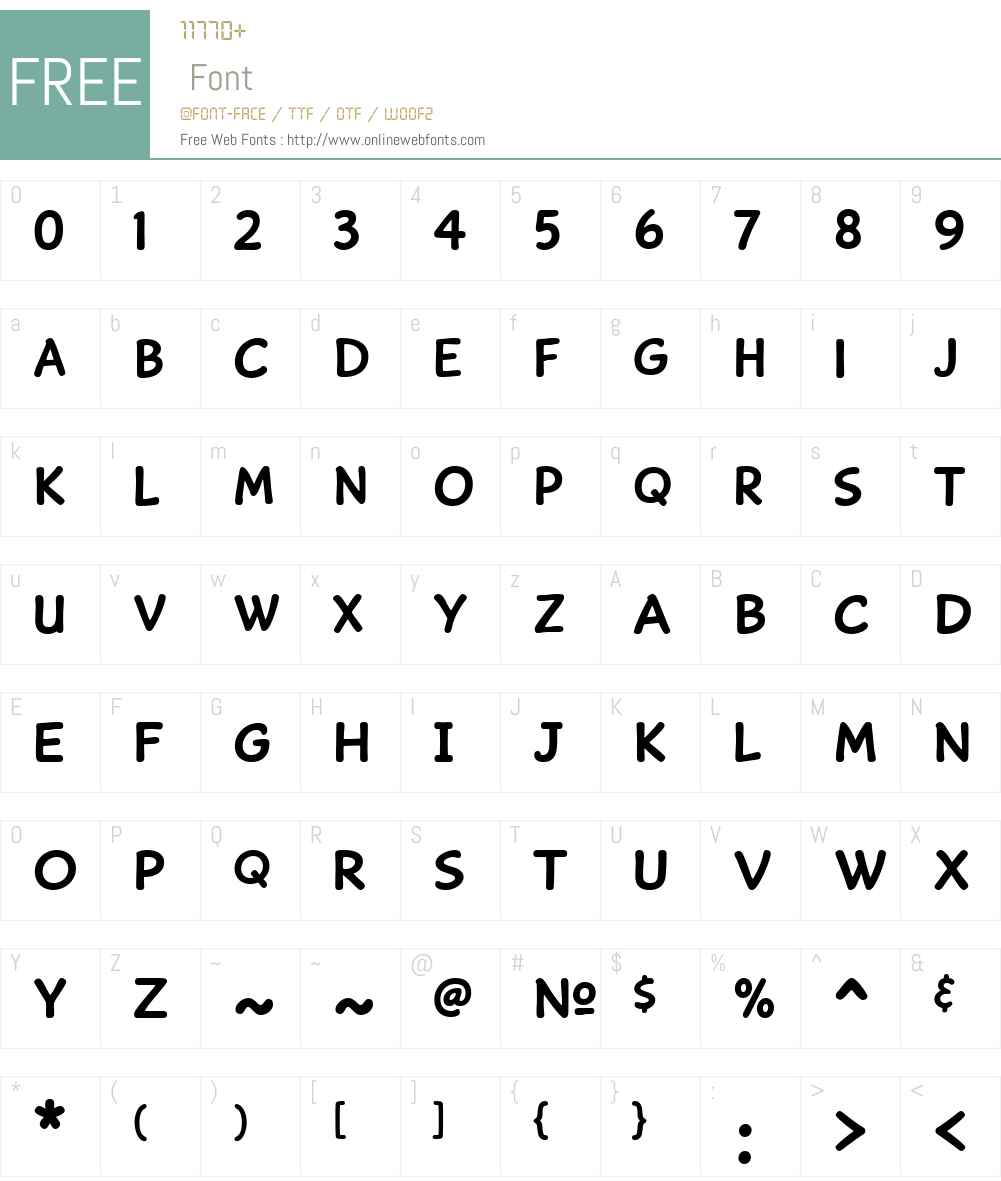 CaperComicW01-Bold Font Screenshots