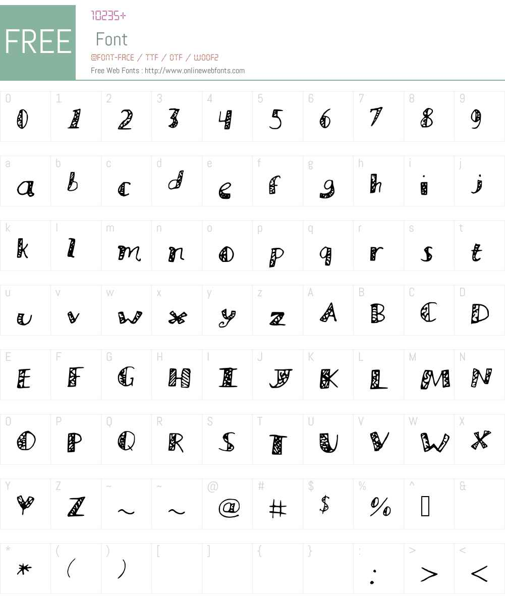 MuraLetters Font Screenshots