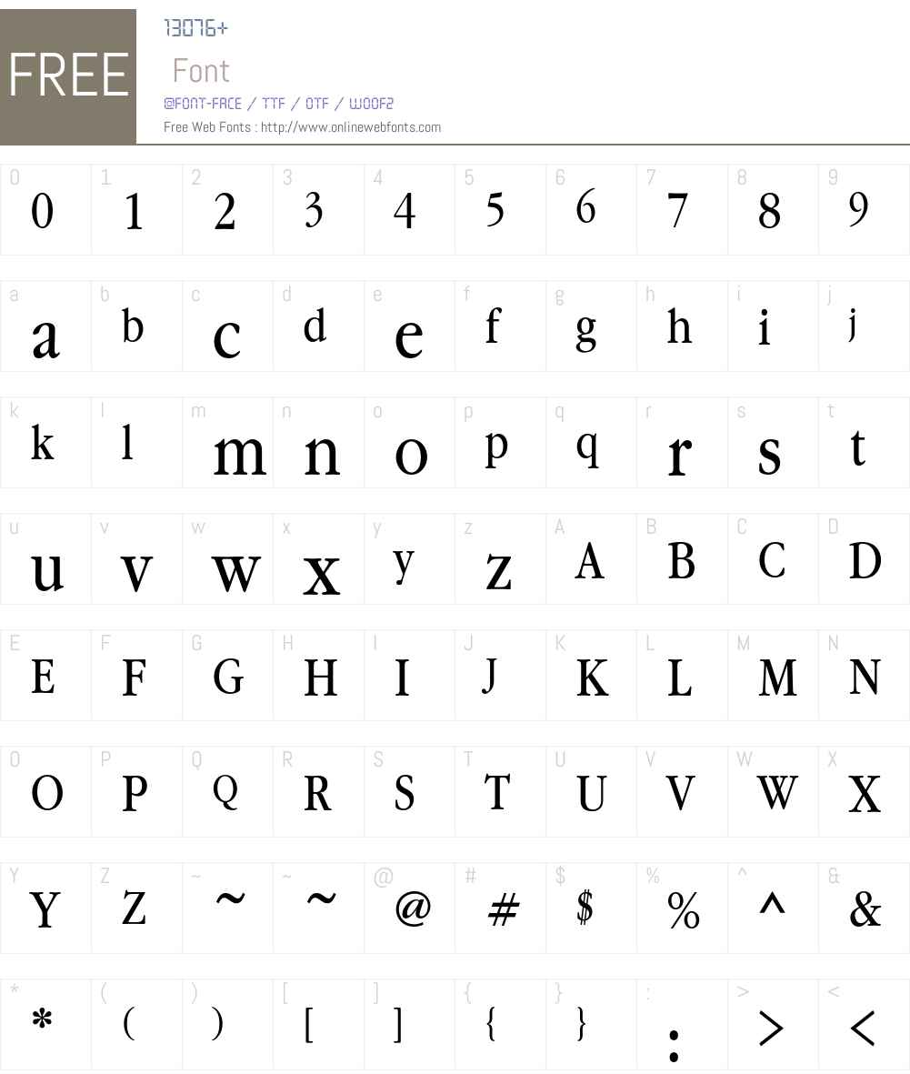 GaramondBookNarrowC Font Screenshots