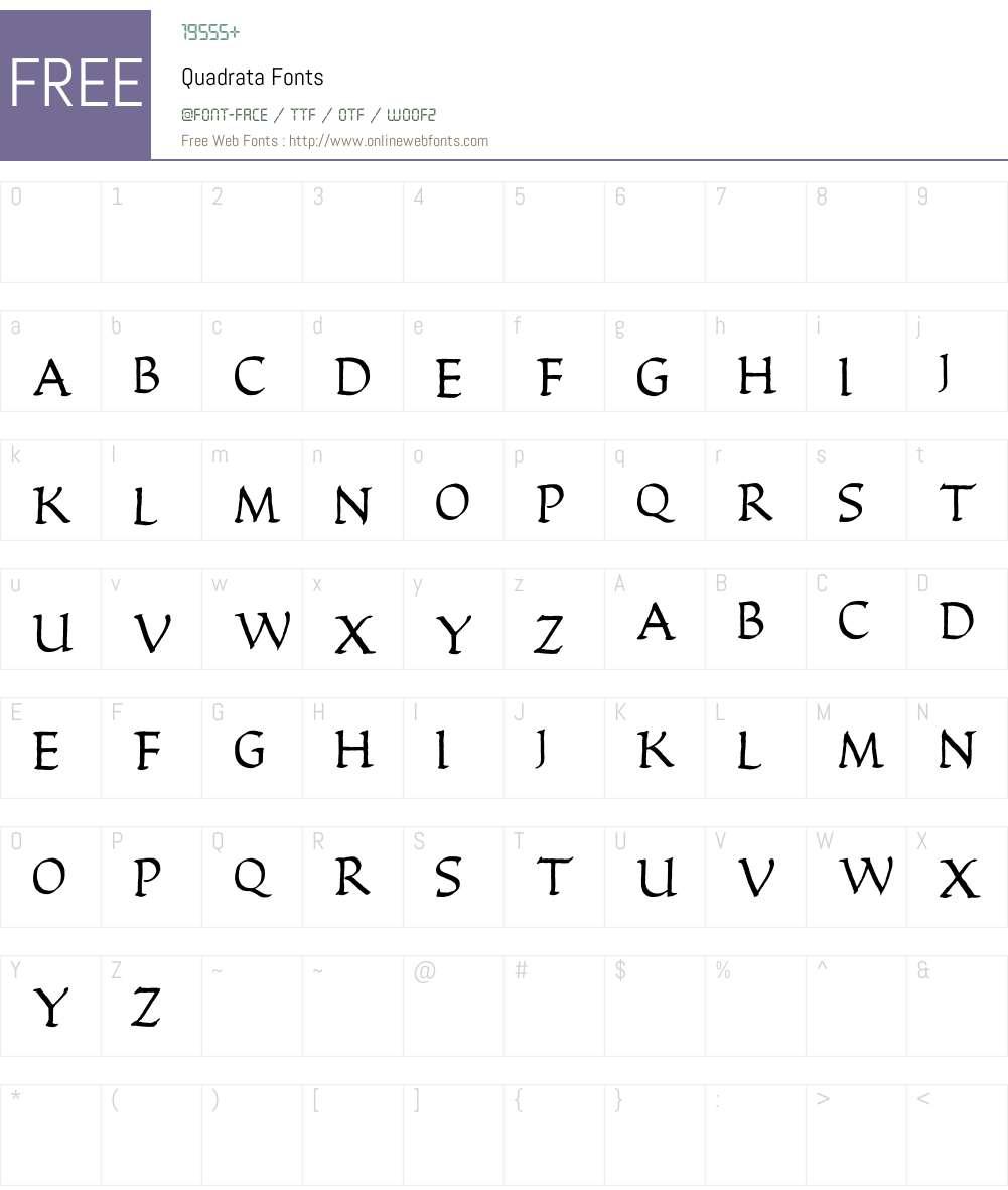 Quadrata Font Screenshots