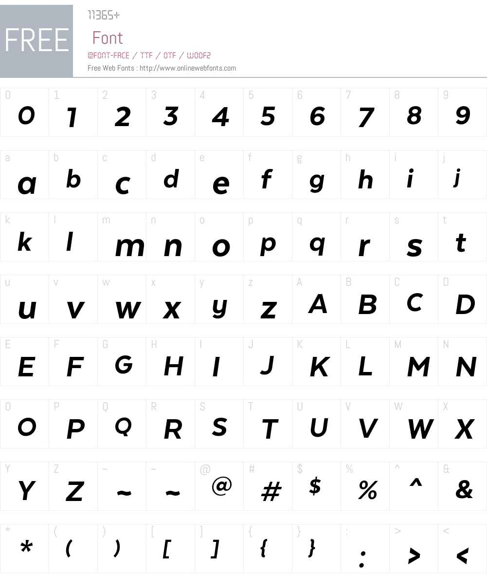 TextaW00-HeavyItalic Font Screenshots