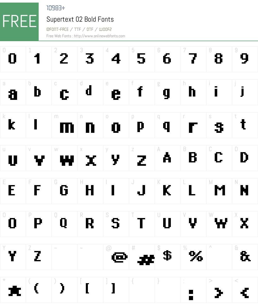 Supertext 02 Font Screenshots