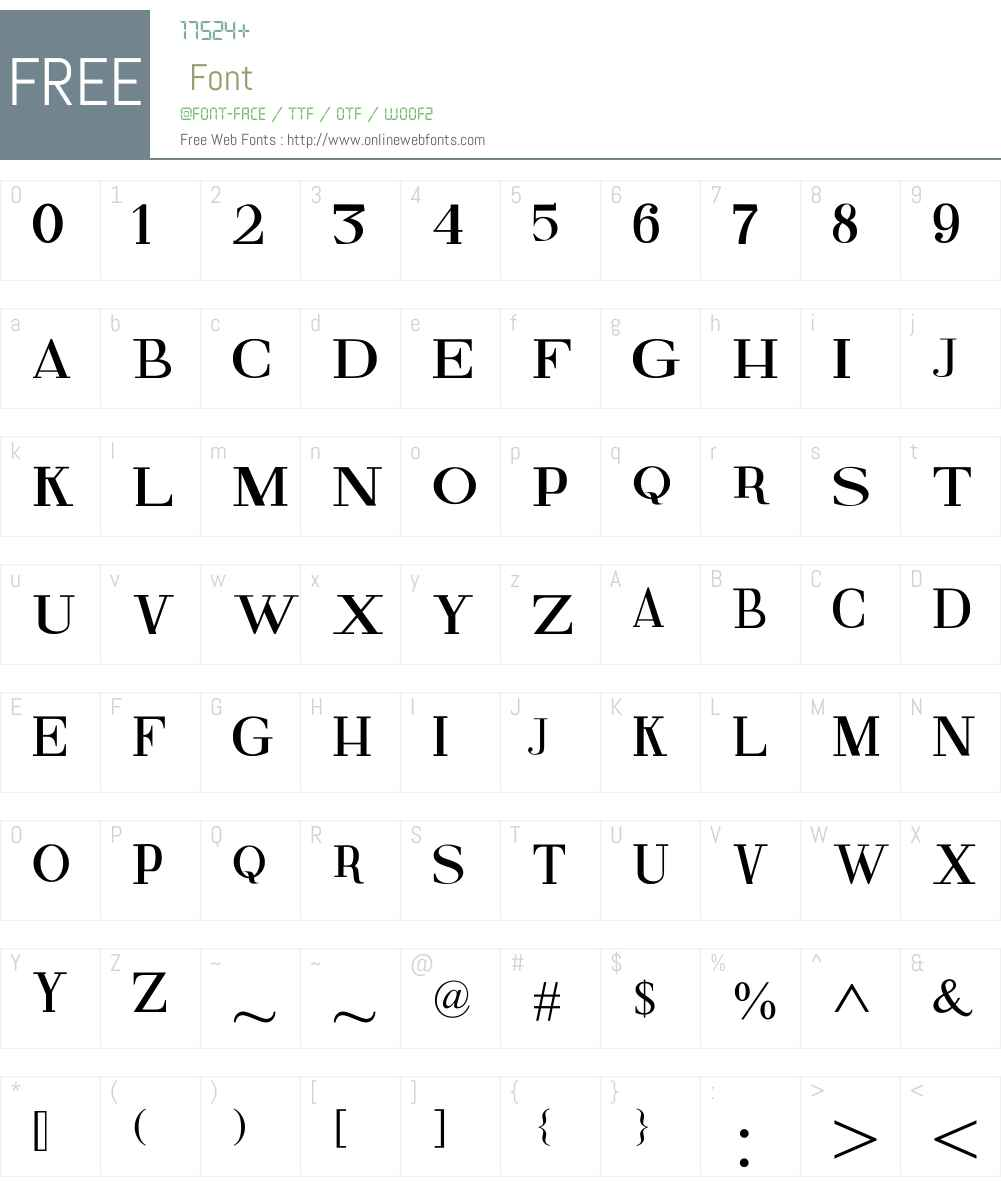 Fine Serif Font Screenshots