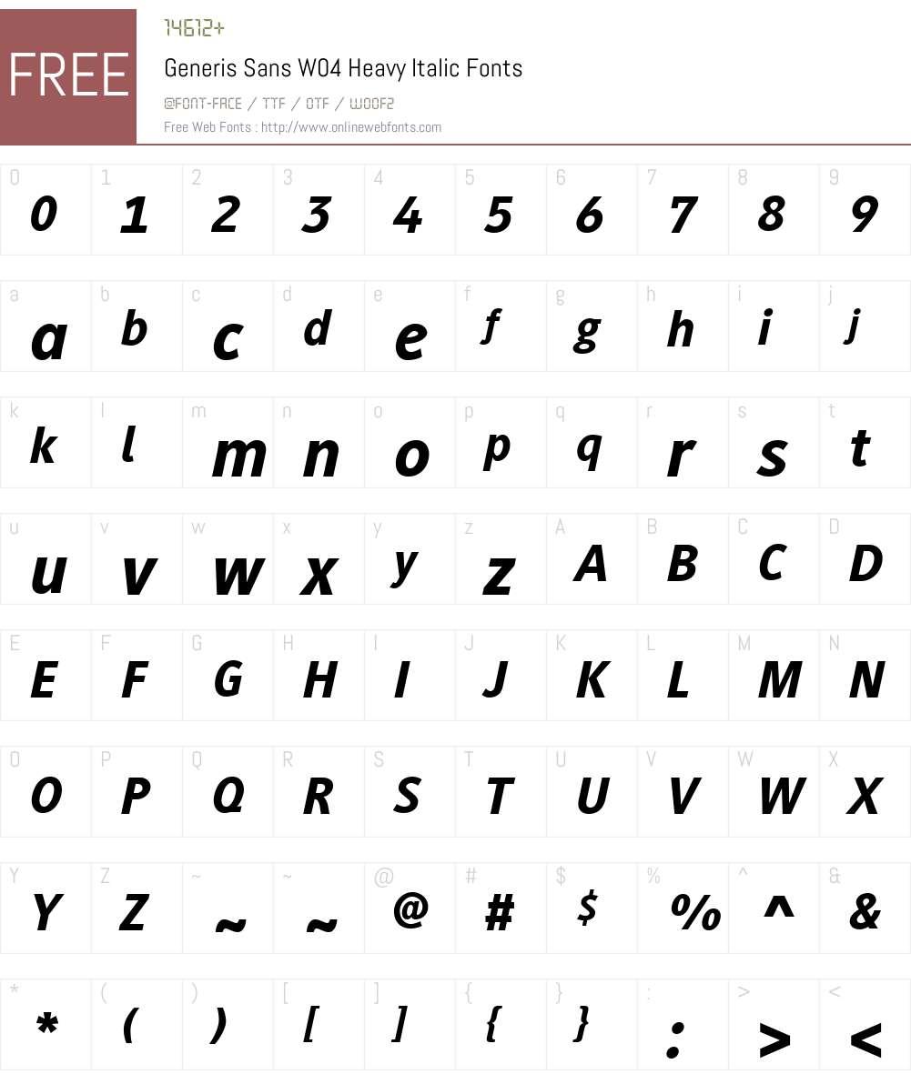Generis Sans Font Screenshots