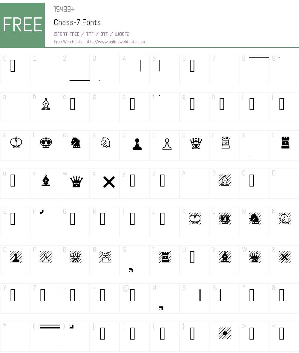 Chess-7 Font Screenshots