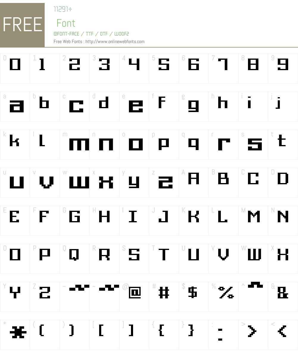 Grixel Acme 9 Regular Bold Font Screenshots