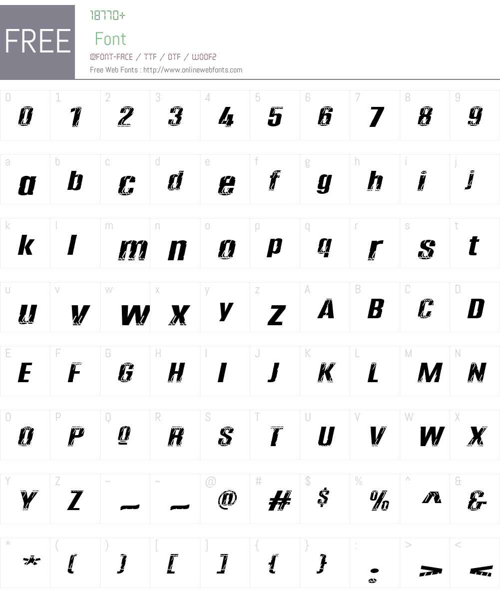 ProfilW00-No12 Font Screenshots