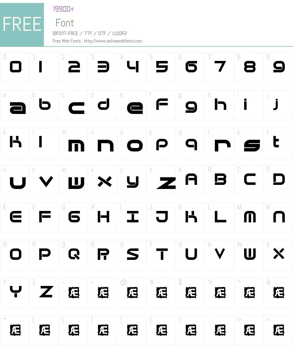Quantum Flat BRK Font Screenshots