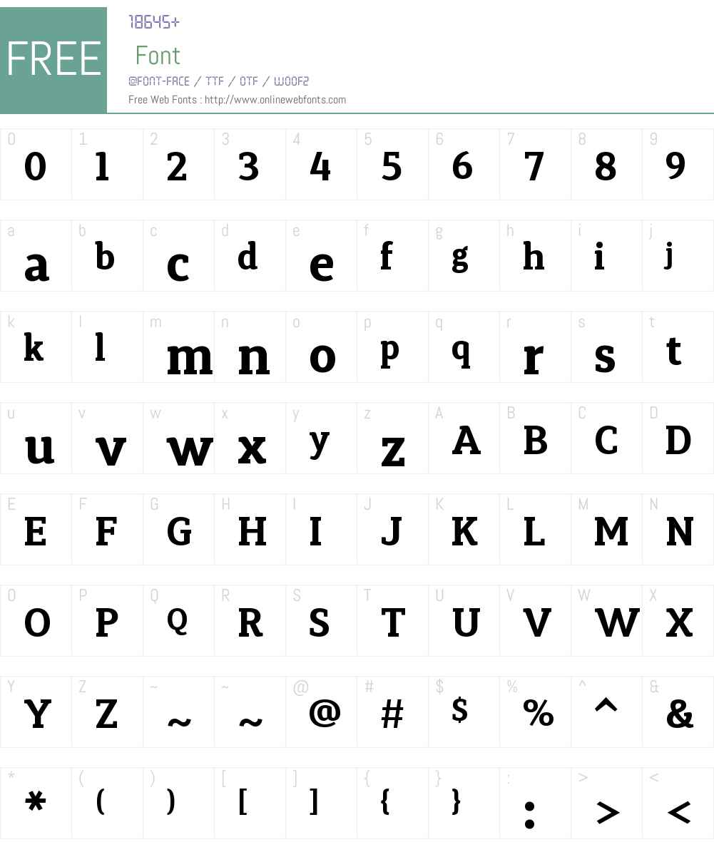 SynergaW01-Bold Font Screenshots