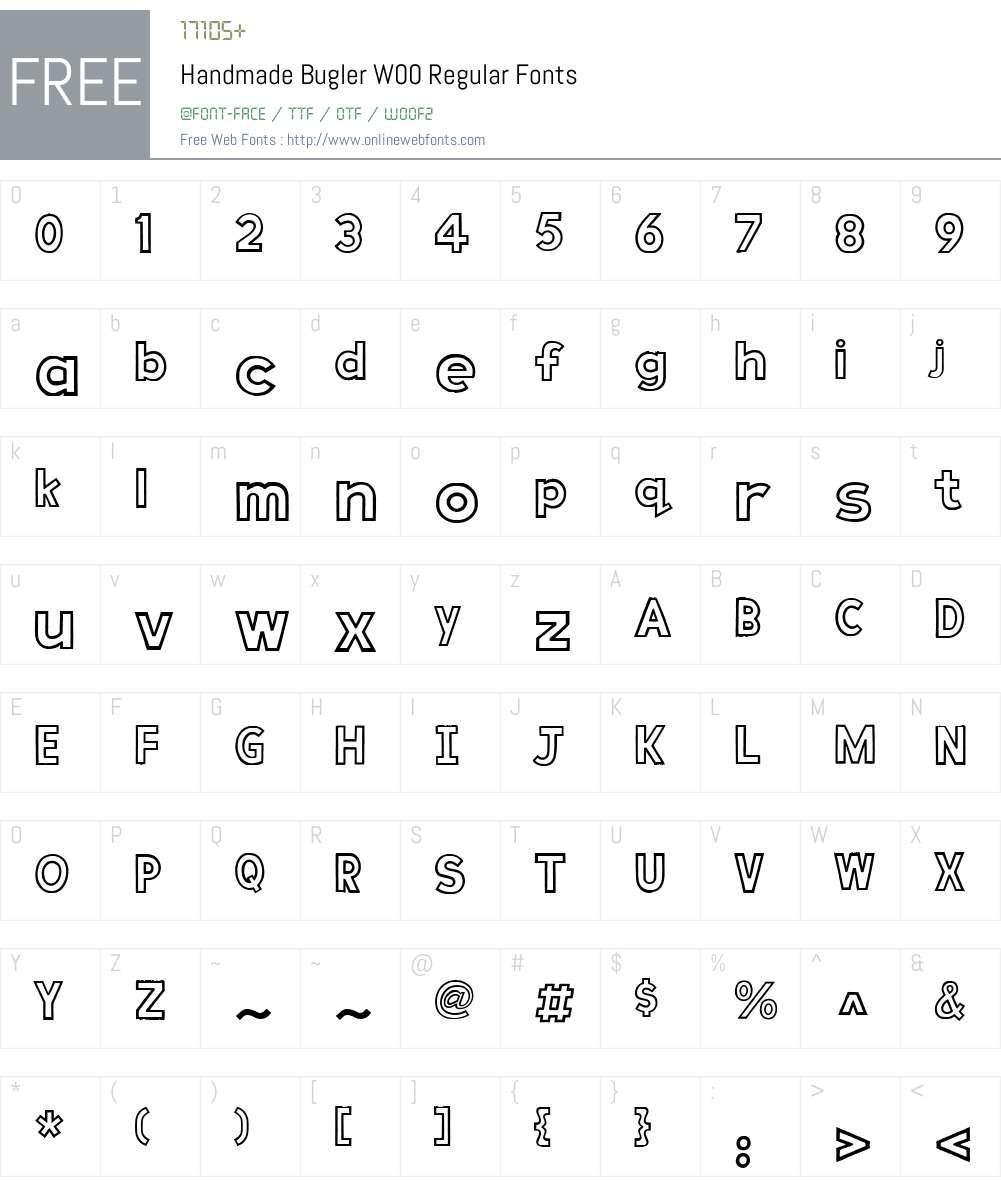 HandmadeBuglerW00-Regular Font Screenshots