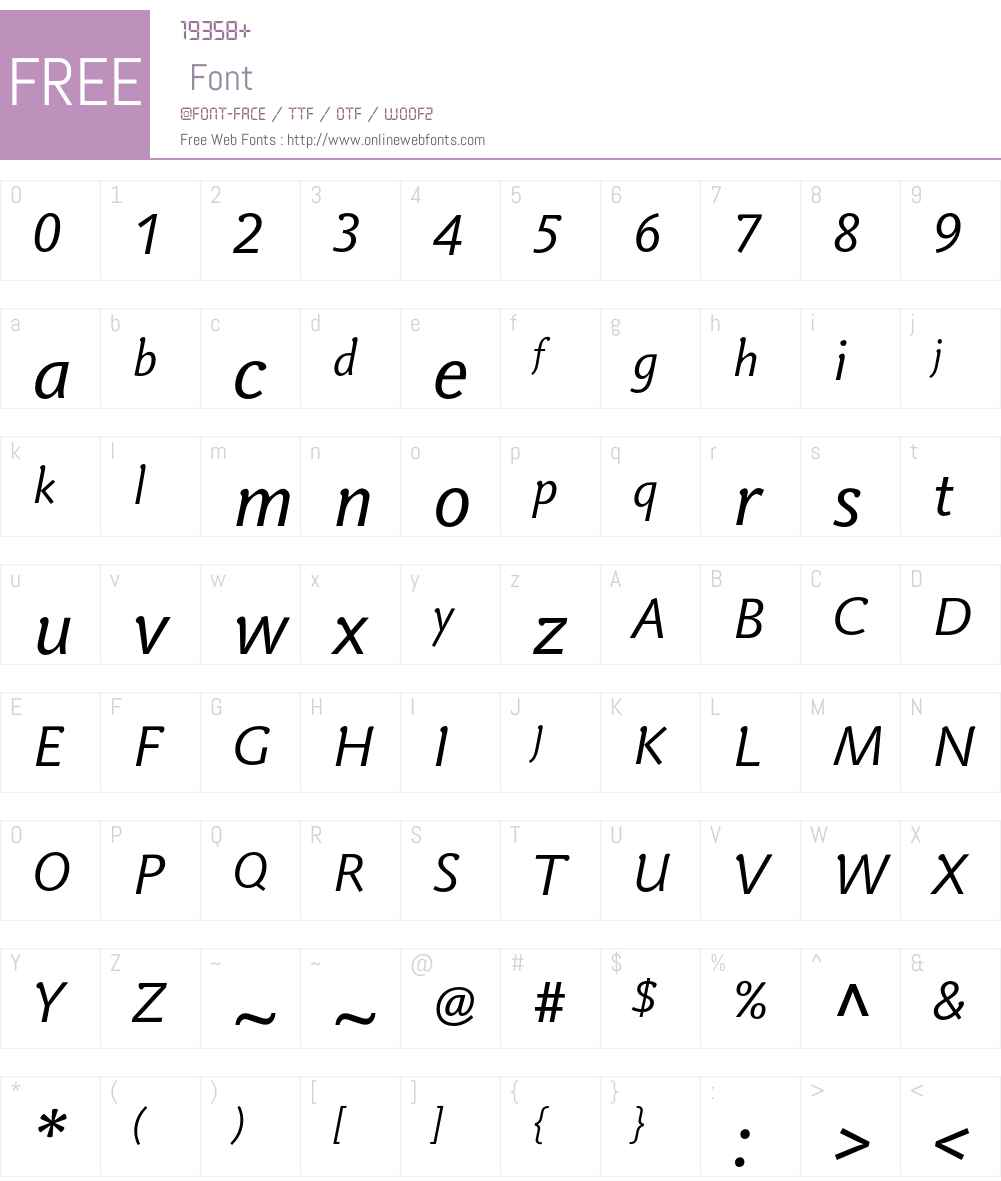 Veronika LT Std Font Screenshots